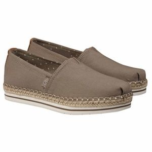 Skechers Bobs Womens Espadrille Slip On Shoes Tan